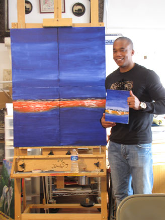 art classes and workshops blue seascape