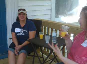 mimosas on the porch